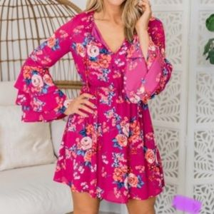 NWT Pink Lily All The Best Memories Dress